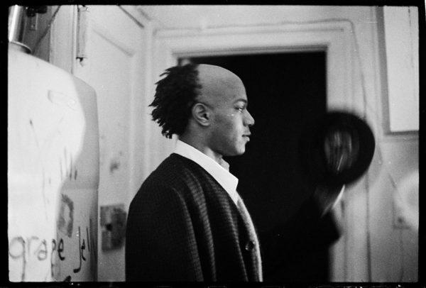 Basquiat in the apartment, 1980. Photo: Alexis Adler.