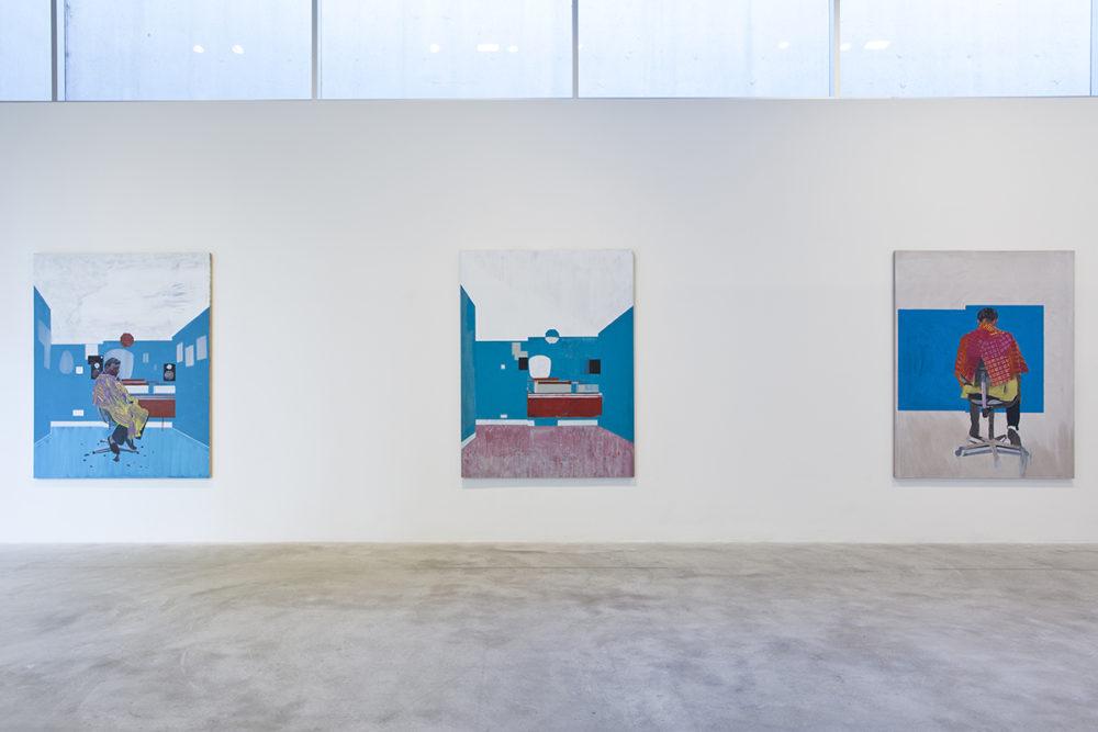 <em>Hurvin Anderson: Backdrop</em>,installation view,Contemporary Art Museum St. Louis, September 11–December 27, 2015. Photo: David Johnson.