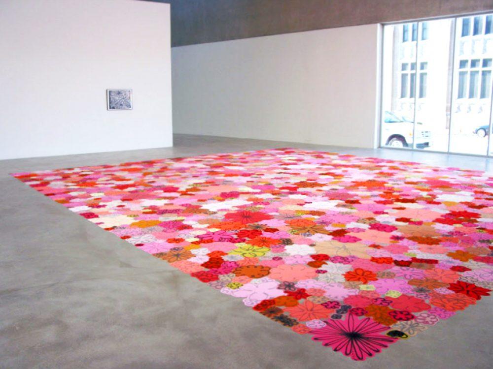 <em>Polly Apfelbaum: Crazy Love, Love Crazy</em>, installation view, Contemporary Art Museum St. Louis, January 23–March 28, 2004.