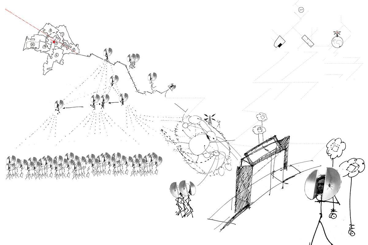 Sketch of <em>Tool Shed</em>. Courtesy the artist.