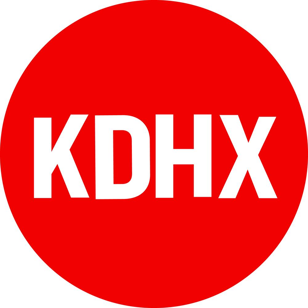 KDHX logo red circle