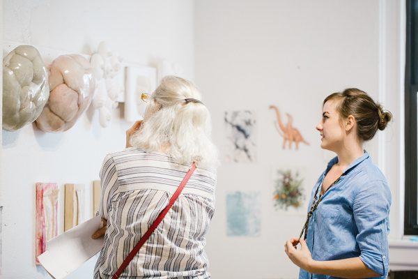 Studio of Emily Elhoffer, Open Studios STL 2018. Photo: Abby Gillardi.