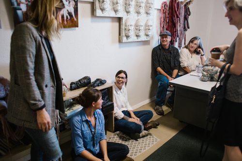 Studio of Jessica Lynn Hunt. Open Studios 2019. Photo: Abby Gillardi.