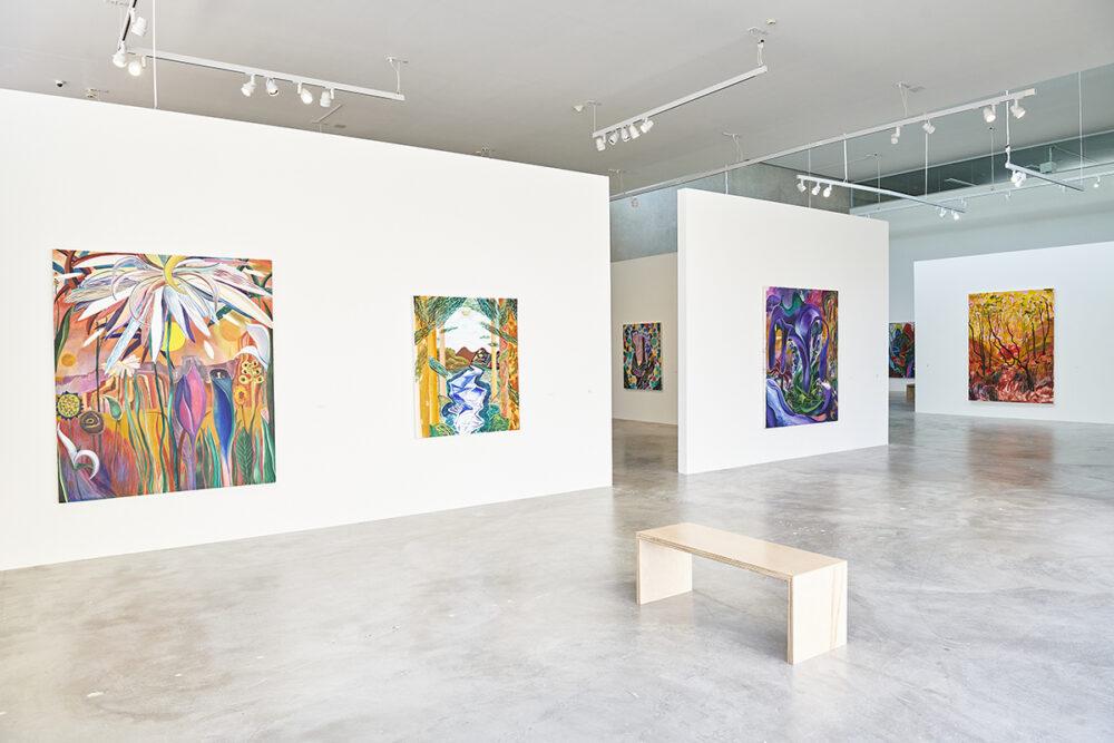 <em>Shara Hughes, On Edge</em>, installation view, Contemporary Art Museum St. Louis, September 3, 2021–February 27, 2022. Photo: Wil Driscoll.