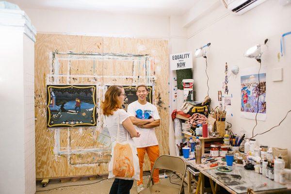 Yowshien Kuo in his studio. Photo: Abby Gillardi.