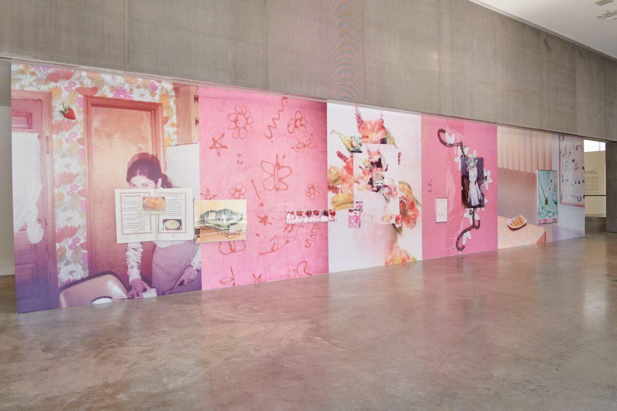 Farah Al Qasimi, <em>Everywhere there is splendor>/em>, installation view, Contemporary Art Museum St. Louis, September 3, 2021–February 13, 2022. Photo: Wil Driscoll