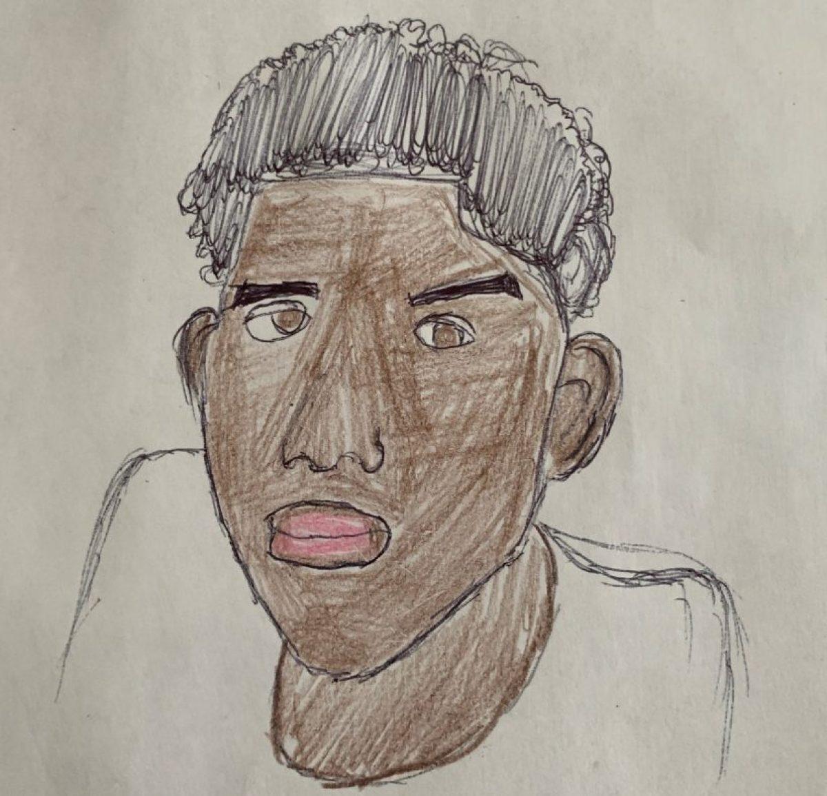 A Vashon High School student self-portrait