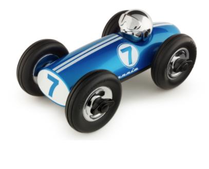 Metallic Blue Playforever Toy Car