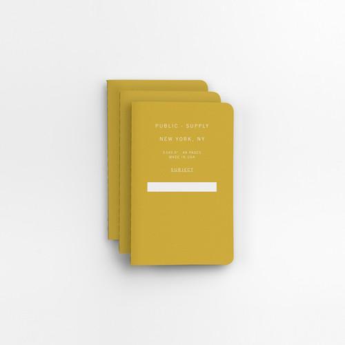 "Yellow 3.5"" x 5.5"" 3pk Ruled Notebooks"