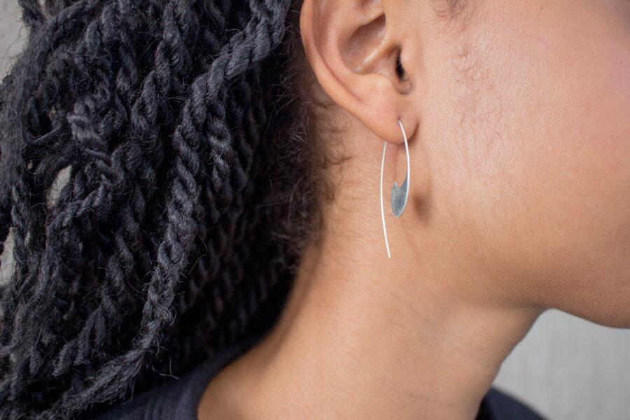 Long Comma Earrings