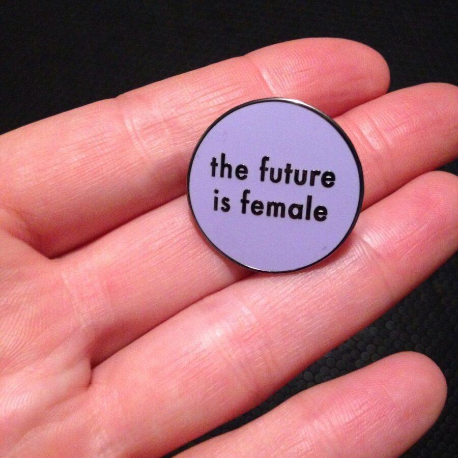 Purple The Future Is Female Pin